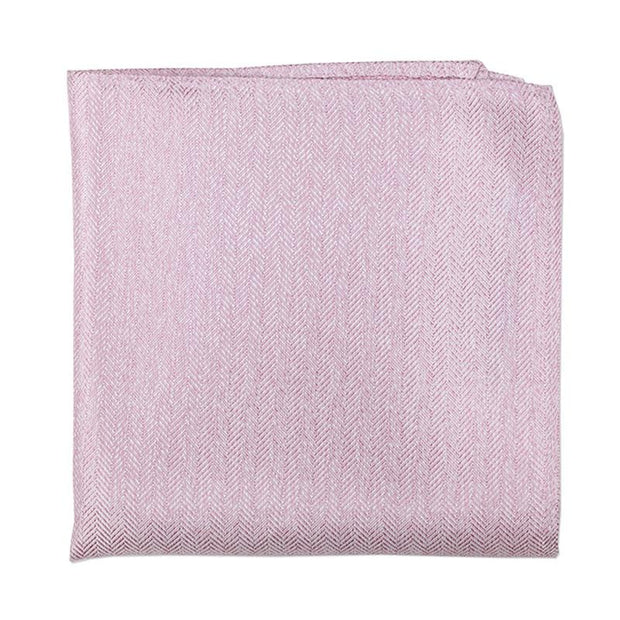 Herringbone Pink Pocket Square
