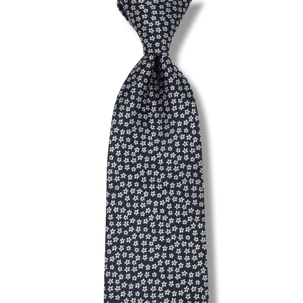 Sky Stars 100% Silk Sale Necktie Navy Color