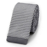 Light Grey Knitted Tie
