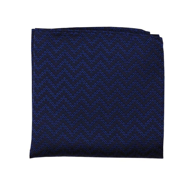 Navy Wave Pocket Square