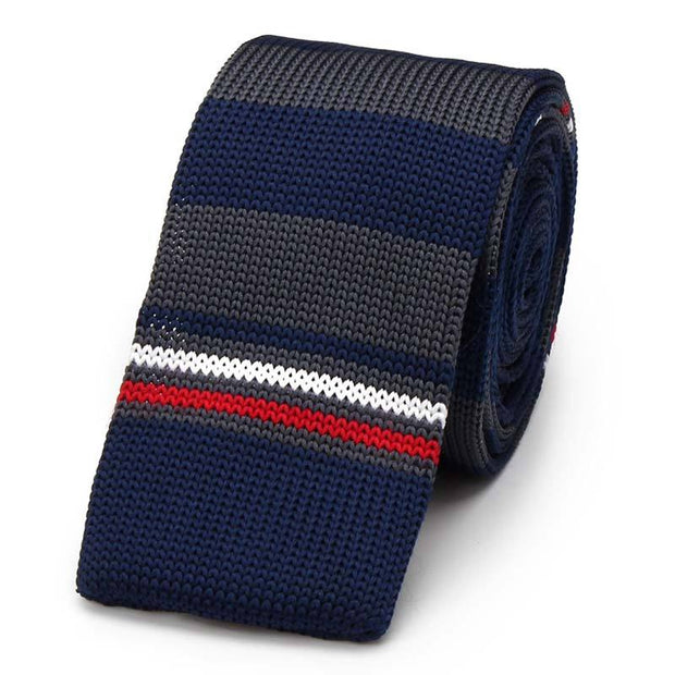 Striped Knitted Tie