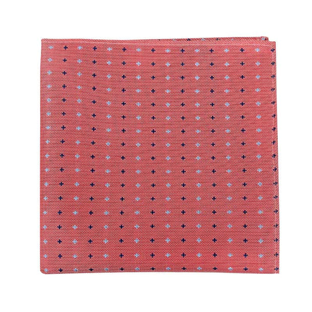 Subtle Cross Pattern Pocket Square