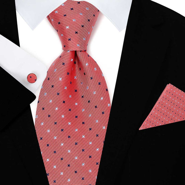 Subtle Cross Pattern Tie Set