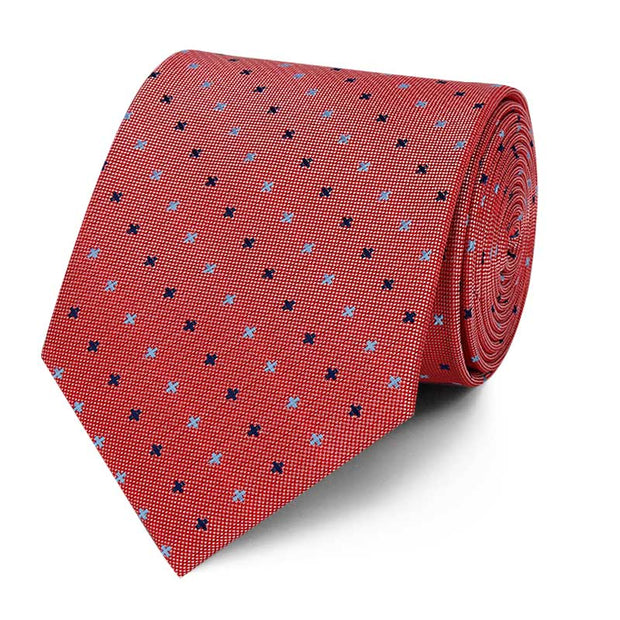 Subtle Cross Pattern Tie