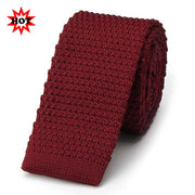 Wine Colour Knit Tie