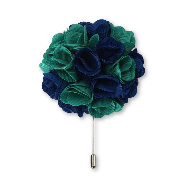 big flower lapel pin