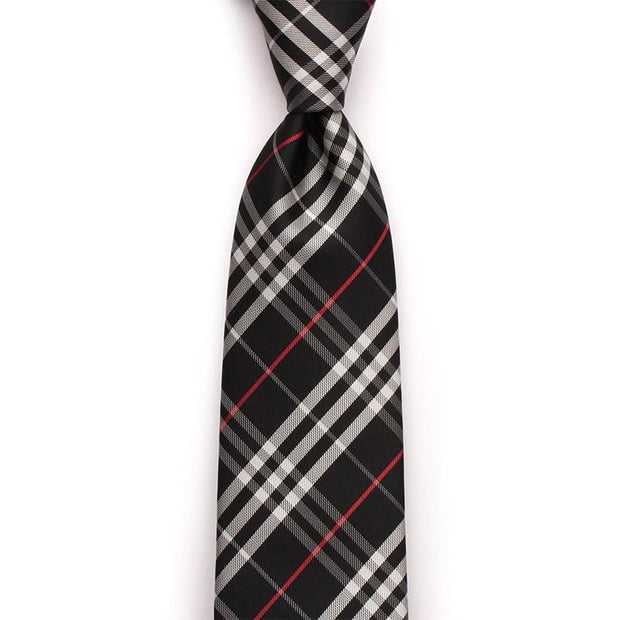 Black Checked Business Neckties For Formal Event
