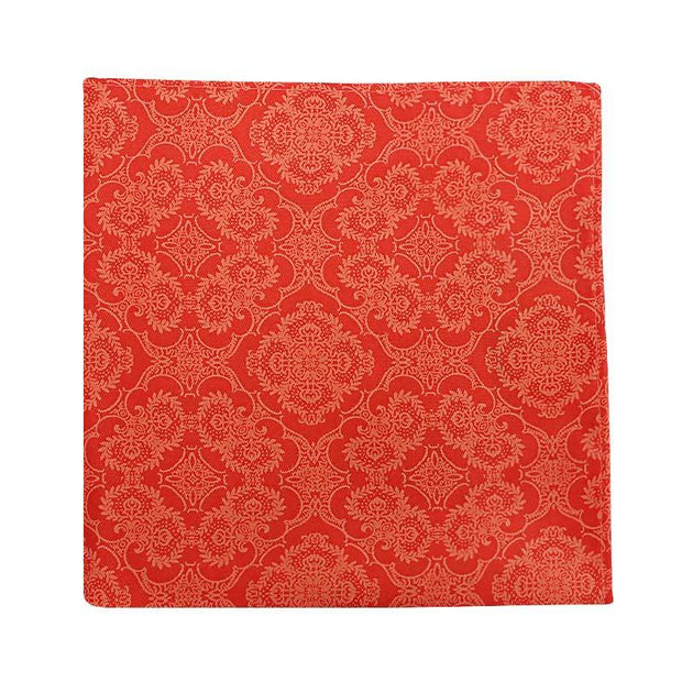 orange print hanky