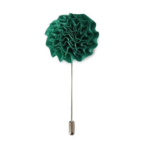solid pleated lapel pin