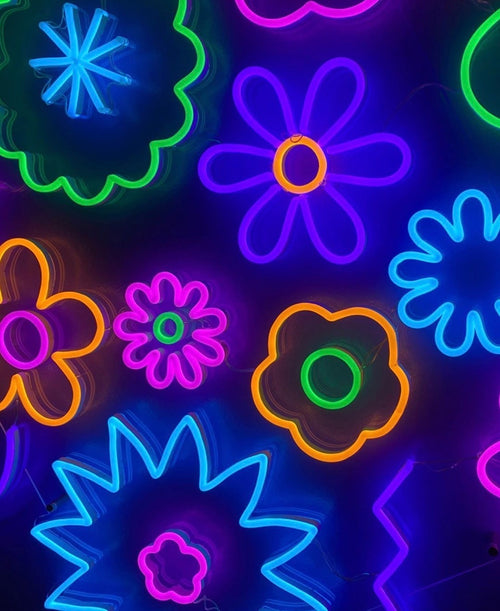 Flower Power: Neon and florals make an electrifying combo
