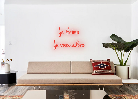 Custom order: Je t'aime Je vous adore