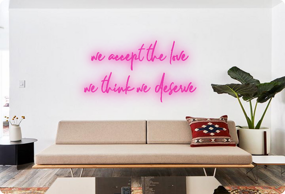Custom order: we accept the love