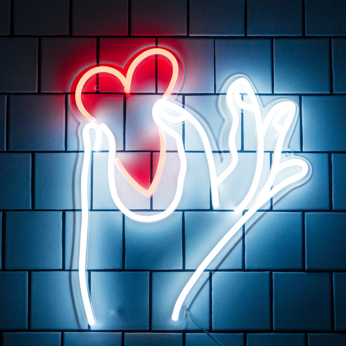 Pinched Heart - LED neon sign by Jean André