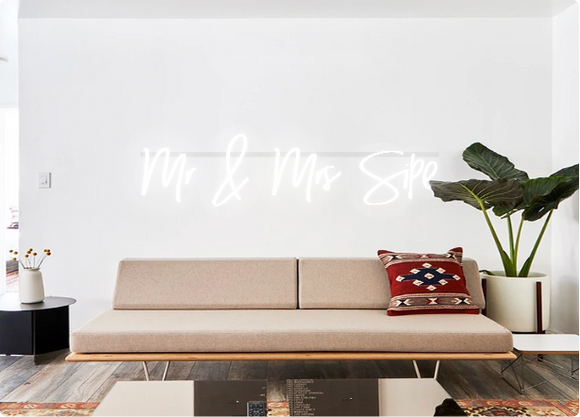 Custom order: Mr & Mrs Sipe