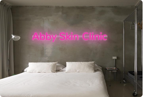Custom order: Abby Skin Clinic