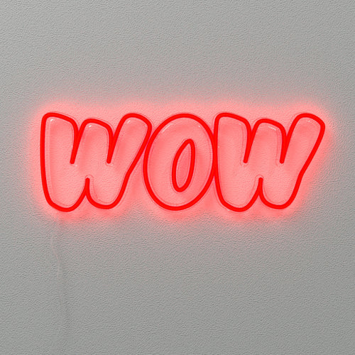 Wow - LED neon sign
