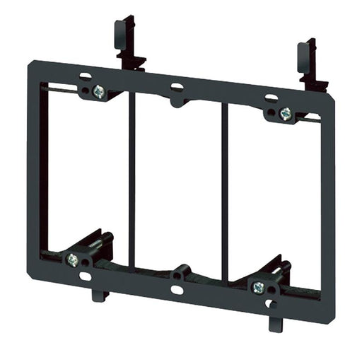 "Arlington LV3 3 - Gang Low Voltage Mounting Plate for 1/4"" to 1"" Walls"