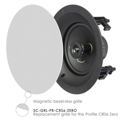 "SpeakerCraft SC-PR-CRS6-ZERO 6-1/2"" (160mm) In-Ceiling Speakers (1-Pack)"