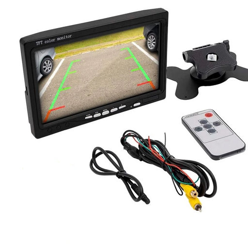 "iBeam 7"" Dash Mount Dual Video Inputs 800 × 480 Pixels Color TFT LCD Monitor"
