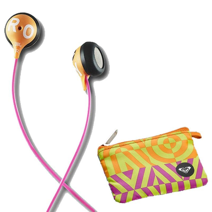 JBL Roxy Reference 230 Orange / Pink Earbud Earphone System with Case