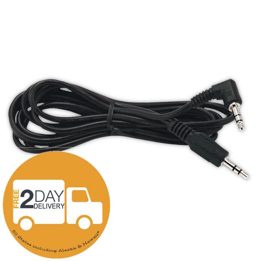 Install Bay 3.5mm Male Right Angle To 3.5mm Male Cable 6 Ft /2M - Pack of 10