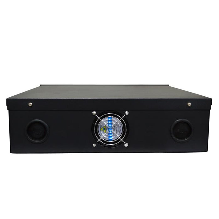 "Security DVR Lock Box with Fan 15"" x 15"" x 5"" for CCTV Security Systems - Black"