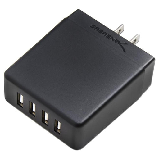 Sabrent AX-U4PB 40W / 8 Amp 4-Port Rapid Smart USB Wall Charger (2.4A/Port)