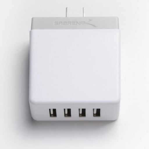Sabrent AX-U4PW 40W / 8 Amp 4-Port Rapid Smart USB Wall Charger (2.4A/Port)