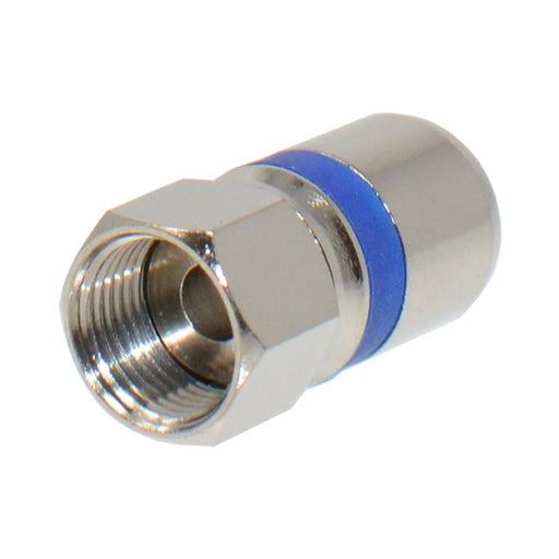 RG6 Dual Shield Coaxial to Self Lock F-Type Compression Connector