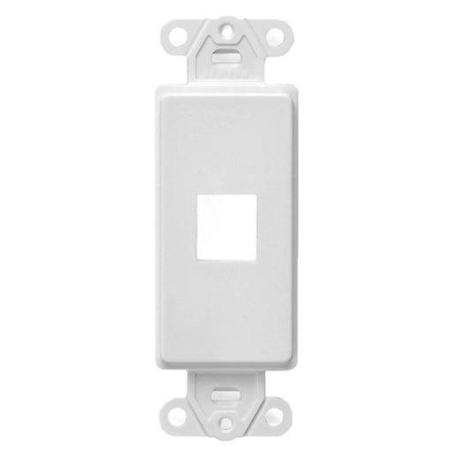 White 1-Port Keystone Jack Wall Plate Insert