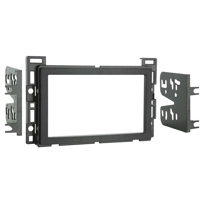 Metra 95-3302 Black Double DIN Dash Multi-Kit for Select 2004-2012 GM