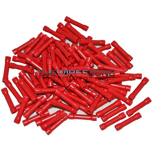 The Install Bay RVBC Red Vinyl 22/18 Gauge Butt Connector (100/pack)