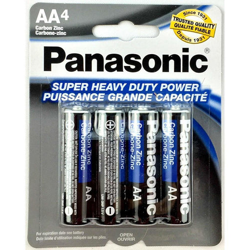 4 Pcs Panasonic AA Batteries Heavy Duty Power Carbon Zinc Double A Battery 1.5v (4343119970368)