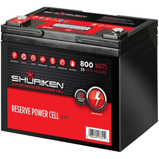 Shuriken SK-BT35 800 Watts 35 Amp Hours Compact Size AGM 12V Battery
