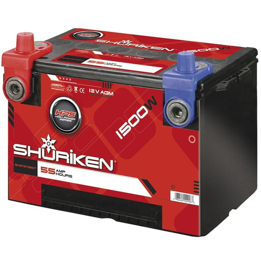 Shuriken SK-BT8785DT 650 Crank Amps 55 Amp Hour Dual Post AGM Battery