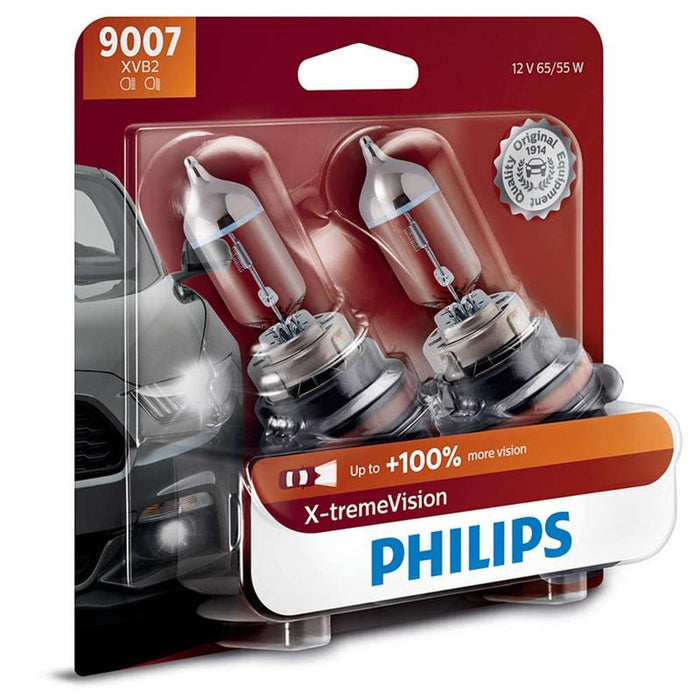 Philips 9007 HB5 X-treme Vision 65/55W Halogen Headlight 3400k (pair)