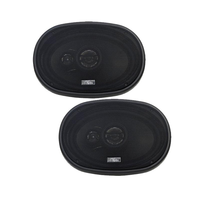 "Earthquake Sound T693X 3-Way 6"" x 9"" 600W Coaxial Car Speaker (pair)"