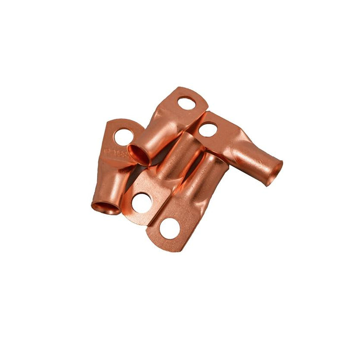 "The Install Bay CUR1014 1/0 Gauge 1/4"" Copper Ring Terminal (5/pack)"