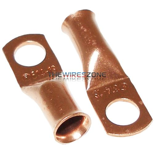 "The Install Bay CUR614 Copper 6 Gauge 1/4"" Ring Terminal (25/pack)"