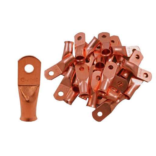 The Install Bay CUR410 Copper 4 Gauge #10 Ring Terminal (25/pack)