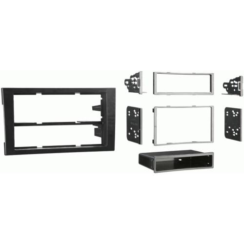 Metra 99-9107B Black Double DIN Stereo Dash Kit for 2002-2008 Audi A4