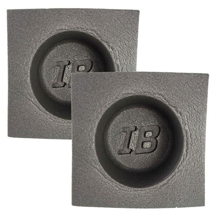 "The Install Bay IBBAF42 4"" Round Foam Car Audio Speaker Baffle (pair)"