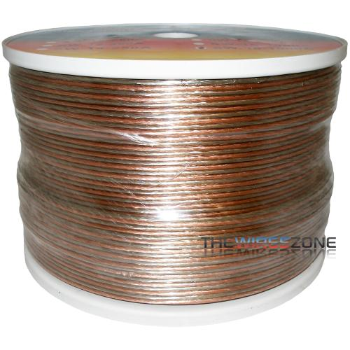 SW-18-1000A Clear 2 Conductor 18 Gauge 1000' Speaker Wire for Home/Car