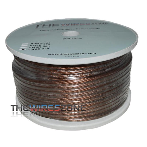 TWZ PW8B-250 High Performance Black 8 Gauge 250 Feet Power Cable