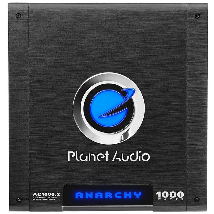 Planet Audio AC1000.2 2-Channel 1000 Watt MOSFET Power Car Amplifier