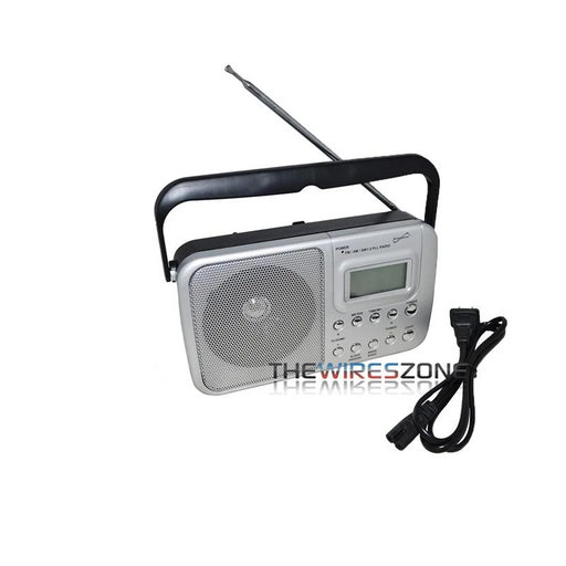 Supersonic SC-1091 4-Band AM/FM/SW1-2 PLL Radio with Alarm Clock