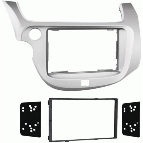 Metra 95-7877S Silver Double DIN Stereo Dash Kit for 2009-up Honda Fit