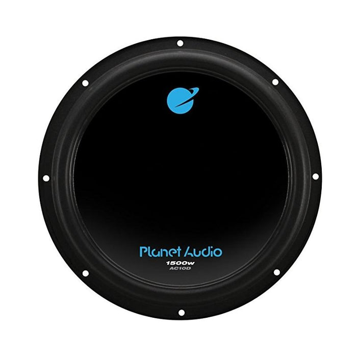 "Planet Audio AC10D Dual 4 Ohm Voice Coil 10"" 1500 Watt Car Subwoofer"