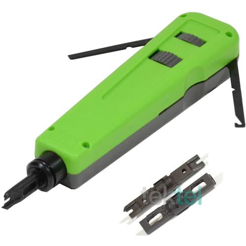 CAT5E/CAT6 RJ Network Cable Impact Punch Down Tool with 110/66 Blades