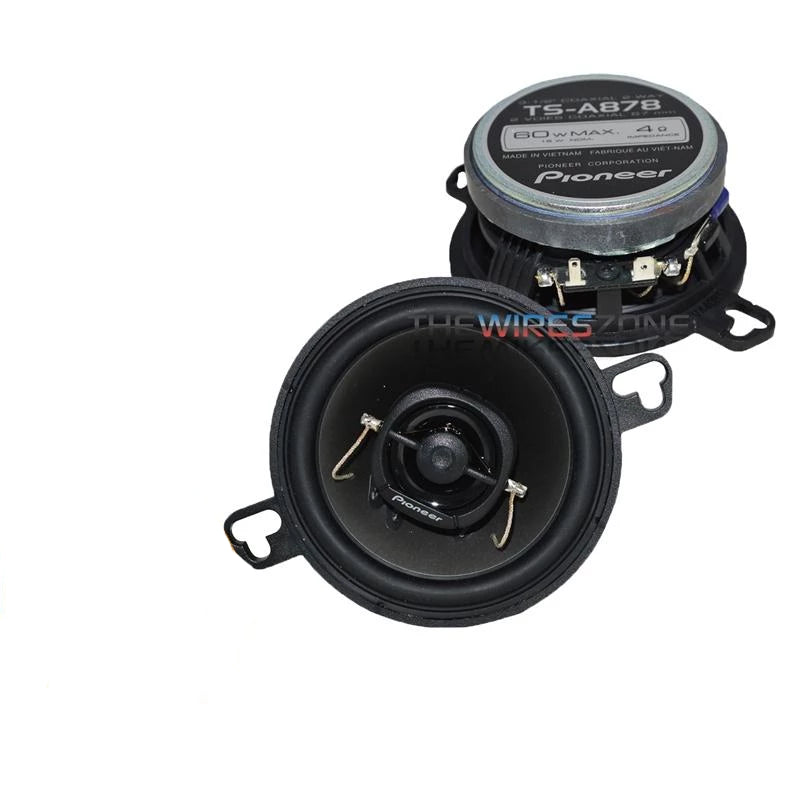 "Pioneer TS-A878 3-1/2"" Custom Fit 2-Way 120 Watts Car Speaker (pair)"